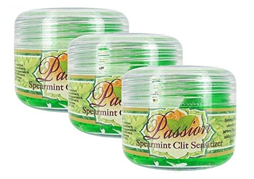 Passion Spearmint Clit Sensitizer Clitoral Enhancer Oral Sex for Women : 1.5 Oz. (Pack of 3)
