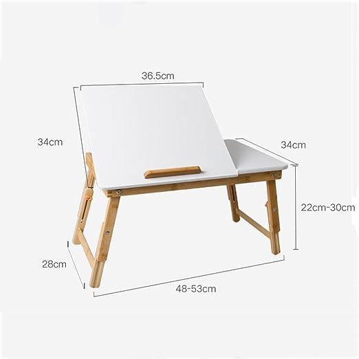 Mesas para FEI Escritorio Plegable de bambú del Ordenador portátil ...