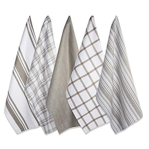 DII Kitchen Dish Towels (Brown, 18x28