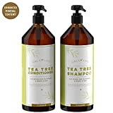 #4: Calily Life Organic Tea Tree Shampoo + Conditioner with Dead Sea Minerals, Duo Set, 33. 8 Oz. Each – Refreshes, Removes Impurities, Softens & Invigorates - Promotes Hair Growth Naturally - [ENHANCED]
