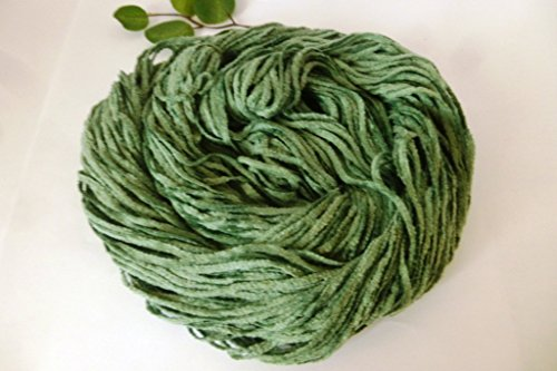Sage Green Cotton Chenille DK Worsted Weight Yarn