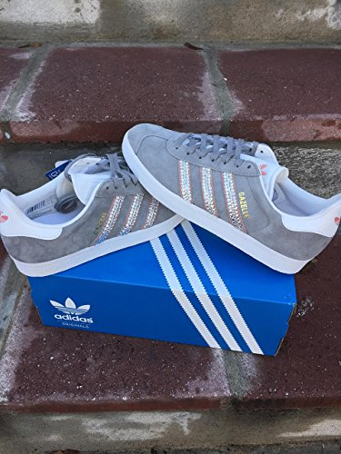 Adidas Gazelle sneakers, Bling Adidas shoes, Womens adidas gazelle, Swarovski Adidas shoes for women, Grey adidas gazelle, Adidas shoes for women, Adidas gazelle women, Gazelle Adidas shoes