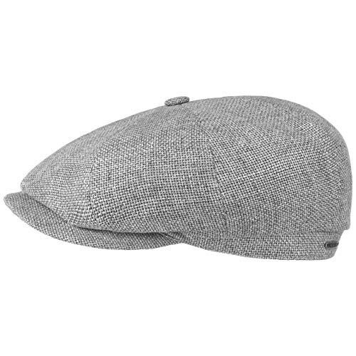 Stetson Hatteras Ellington Flat Cap Men Grey-Mottled 7 ()