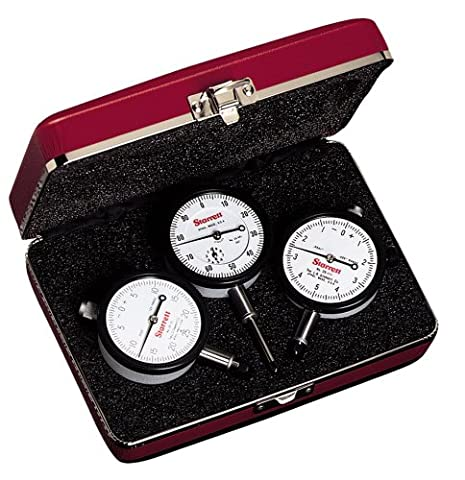 Starrett S253Z Dial Indicator Set, Set of 3-Inch Reading Dial Indicators: 25-111J, 25-131J and 25-441J, AGD Group 2, Jeweled Bearings, Lug-On- Center - Starrett Test Indicator