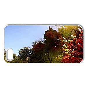 Autumn - Case Cover for iPhone 5 and 5S (Forests Series, Watercolor style, White)