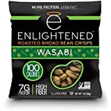 Enlightened Plant Protein Gluten Free Roasted Broad (Fava) Bean Snack, Wasabi, 48 Count