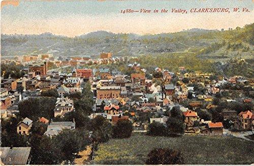 Clarksburg West Virginia View In The Valley Antique Postcard - View Valley Virginia