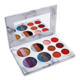 DE'LANCI Eyeshadows Palette Makeup,4 Creamy Mixed Glitter and 6 Matte Shades Insanely Pigmented Cosmetic Eye Shadows Set for Party and Daily Use