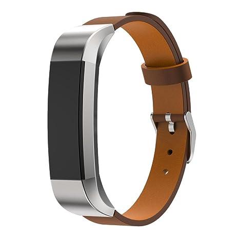 iHee Correa de piel para pulsera cuantificadora Fitbit Alta, color ...