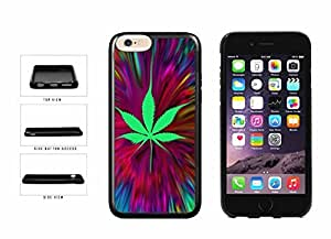 Trippy Pot Leaf TPU RUBBER SILICONE Phone Case Back Cover Apple iphone 4 4s inches screen) includes diy case Cloth and Warranty Label