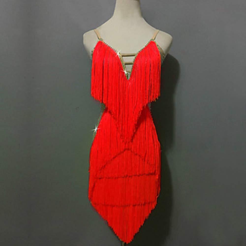 【当店一番人気】 ラテンダンスドレス女性のパフォーマンススパンデックススパンコールタッセルスプライスノースリーブ高ショーツ XL B07PCQBTRH Red Red B07PCQBTRH XL, インポート靴のALEXIS/アレクシス:7ff206d8 --- a0267596.xsph.ru