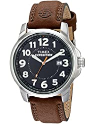 Timex T44921  Mens Expedition Metal Field Brown Leather Strap Watch
