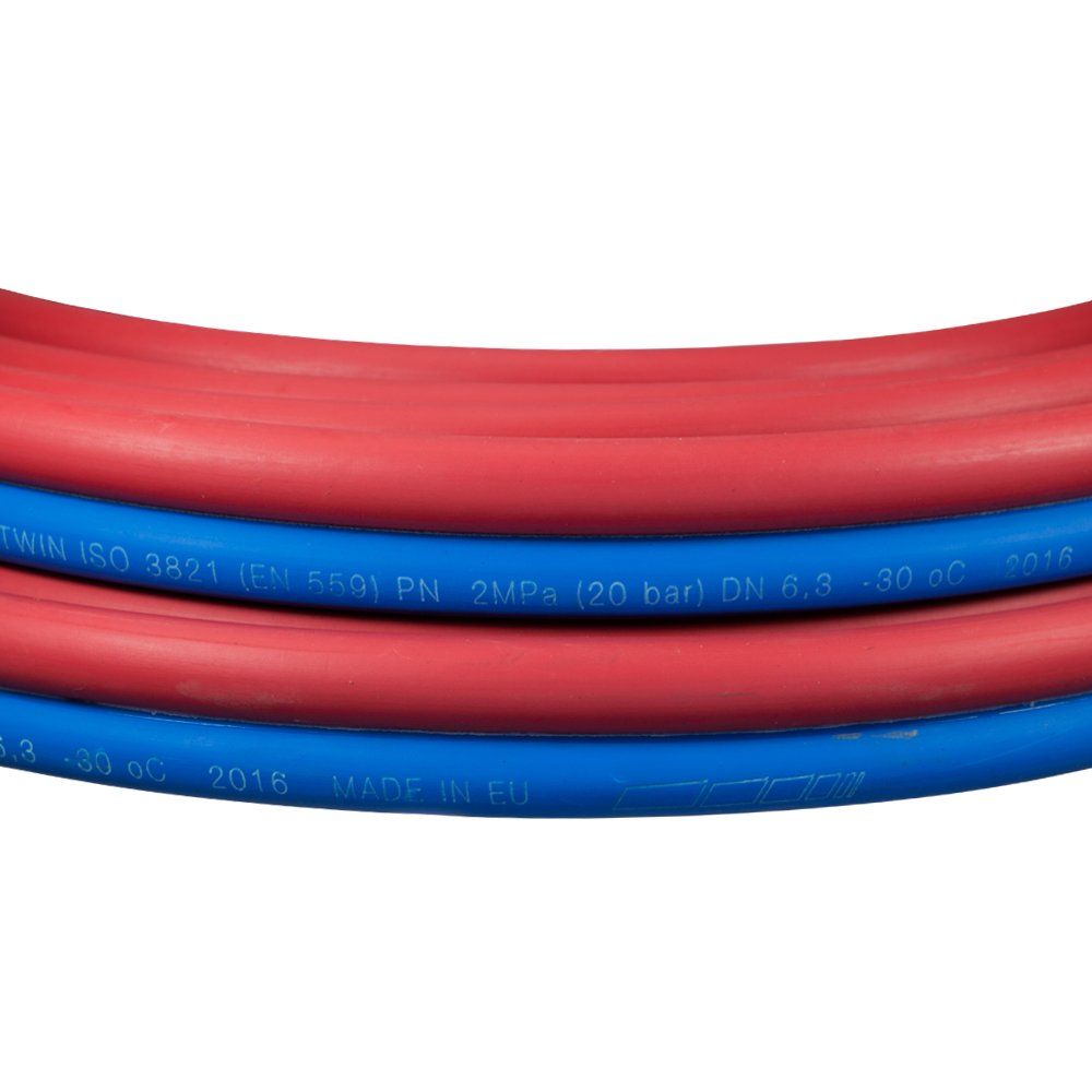 SCAPP Zwillings Autogenschlauch dick 16//16 Acetylen//Sauerstoff L/änge 50 Meter andere L/ängen ausw/ählbar