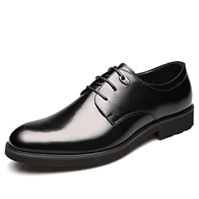 18614869e8b7f Amazon.com | Men's Leather Dress Shoes Classic Modern Oxford Round ...