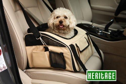Sedile di lusso e portantina per gatti seggiolino a gabbietta per i viaggi. Heritage cani e cuccioli