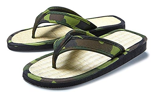 Spinnrad - Sandalias de algodón para mujer verde camuflaje