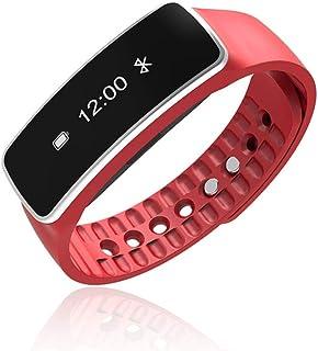 HDWY Intelligente Mano Anello Bluetooth Mobile Hand Contapassi Sleep Monitoraggio Bracciale In Silicone Impermeabile,Black