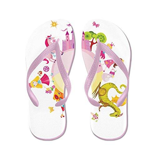 (Royal Lion Kid's Princess Prince Dragon Kingdom Pink Rubber Flip Flops Sandals 4.5-7)