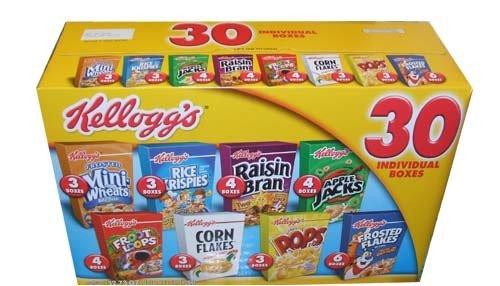 Kelloggs Cereal Individual Variety Ounces