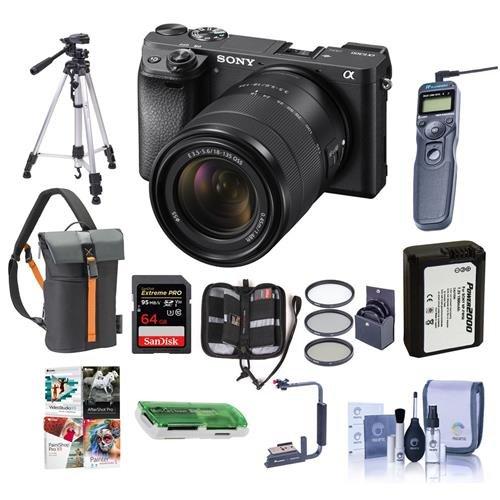 Sony Alpha A6300 Mirrorless Camera Black with 18-135mm f/3.5