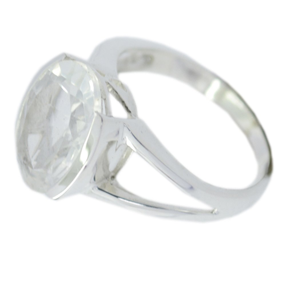 Gemsonclick Fine Crystal Quartz Stone Statement Rings For Her Bezel Style Oval Shape Available Sizes 5-12 by Gemsonclick (Image #4)
