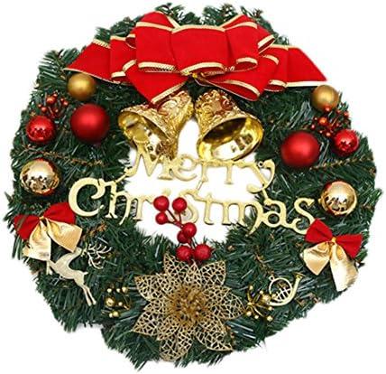 Ruikey 30cm Corona Navideña Guirnalda de la Navidad Decoraciones caseras Decoraciones de la Navidad Guirnalda Navidad Decoración para Puerta: Amazon.es: Hogar