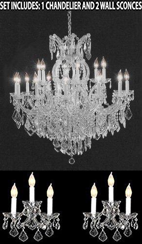 Amazon.com: 3pc Juego de iluminación – Cristal Lámpara de ...