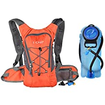 J. Carp 2 liter/3 liter Hydration Pack, Lightweight Backpack with Water Bladder for Hiking, Running, Camping, Climbing, Cycling, Walking, Hunting