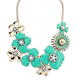 Best Electronic Arts Friend Zombie Necklaces - The Starry Night Easy Dressing Multi Petals Gold Review