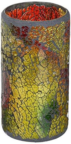 (LED Mosaic Flameless Candle, Cracked Glass Pattern, 3