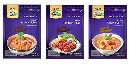Asian Home Gourmet: Assorted Indian Paste Mixes (Pack of ()