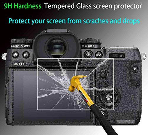 ,ULBTER 0.3mm 9H Hardness Ultra-Clear Tempered Glass Flim Anti-Scrach Anti-Fingerprint Anti-Bubble Anti-Water Anti-Dust Z6 Z7 Top Screen Protector for Nikon Z7//Z6 Camera 2+2Pack