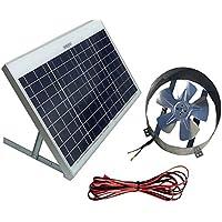 Amtrak Solar Powered Attic Gable Fan-40 Watt Ventilator, 25 Year Warranty