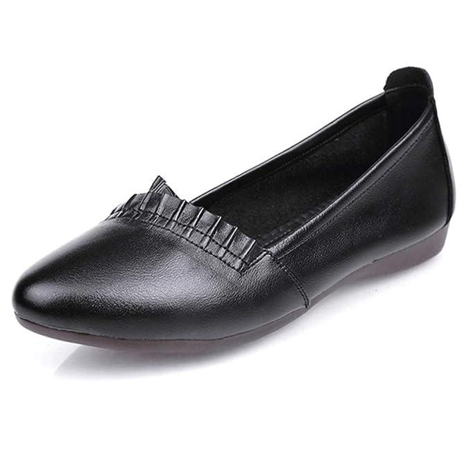 Mujer Mocasines Para Mujer Piel Náutica Mocasín Elegante Mocasín Plano Zapato Sin Cordones Cómodo: Amazon.es: Ropa y accesorios