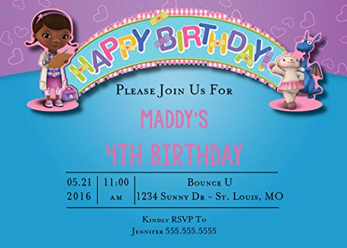 The Melange Market Custom Birthday Party Invitation - Doc McStuffin]()