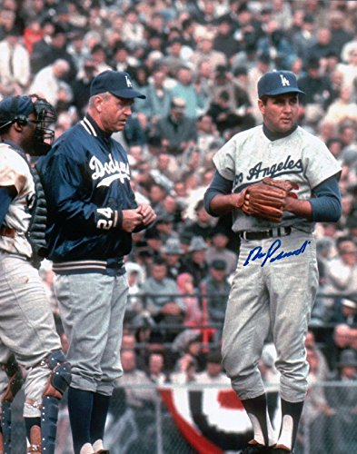 Ron Perranoski Signed 8X10 Vintage Photo Autograph Dodgers w/Manager Auto COA (Framed 8x10 Signed Photo)