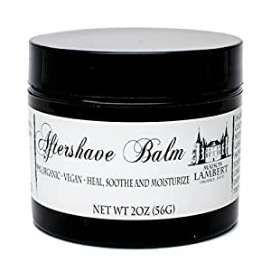 Maison Lambert Organic Aftershave Balm for Men - Amazing for sensitive skin - Protective, soothing and moisturizing, a must have for a perfect shave - Free Shipping - 2oz