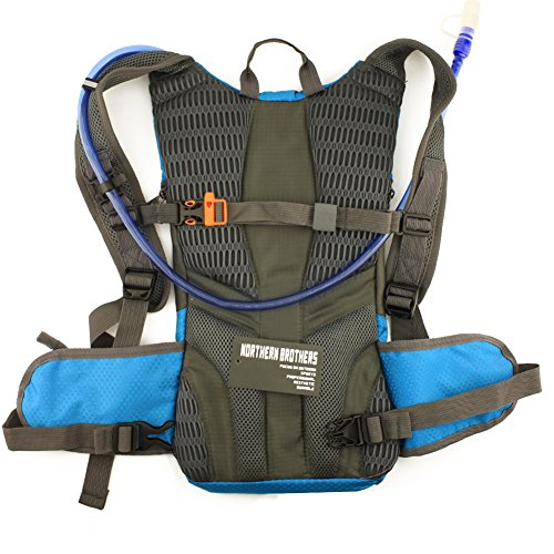 Lightweight Hydration Backpack Bladder Pack Daypack for Hiking, Running, Camping, Climbing, Cycling, Walking, Hunting(single blue backpack)