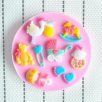 Martha Art Craft diseño de figuras para decorar Baby Shower Fiesta moldes silicona jabón molde de ...