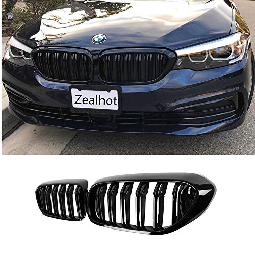 Front Kidney Grille Grill for BMW G30 G31 G38 5 Series 525i 530i 540i 550i with M-Performance Black Kidney Grill (GLOSS - 530i Series 5