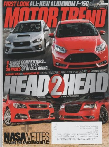 Motor Trend 2014 April - Head to Head: Chevrolet SS & Chrysler 300 SRT ebook