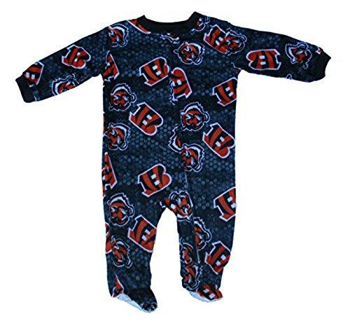 【国内発送】 Cincinnati Bengals幼児用サイズ0 – – 3 Months All All OverチームロゴFooted B06XRZZX22 pajamas- Navyブルー&オレンジ B06XRZZX22, 雑貨才蔵:6989bd41 --- a0267596.xsph.ru