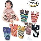 Cute Animal Theme Unisex Sleeve Warmers Socks Leggings Baby Girls Boys Toddler Knee High Stockings for Crawling Baby Leg Warmers - Knee Socks Protector Warmer