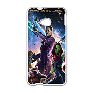 HTC One M7 Cell Phone Case White guardians of the galaxy poster film LV7942598
