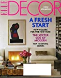 Elle Decor January 2010 New Colors for New Year, Top 10 Dining Chairs, Fireplaces, Birmingham Alabama, Herve Van der Straeten's Must-Haves