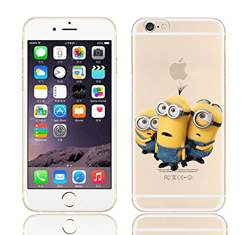 iPhone 6/6s  Minions Cartoon Silicone Phone Case / Gel Cover