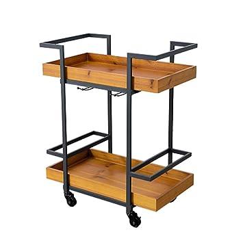Amazon.com: GaoLP - Carrito de madera para restaurante, 2 ...
