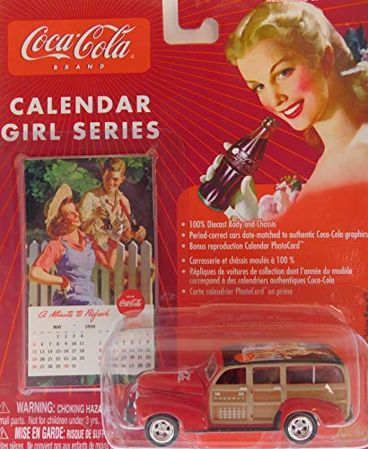 Johnny Lightning 1941 Chevy Special Delivery Wagon (May 1946 Print) Coca-Cola Calendar Girl Series #11 1:64 Scale die-cast