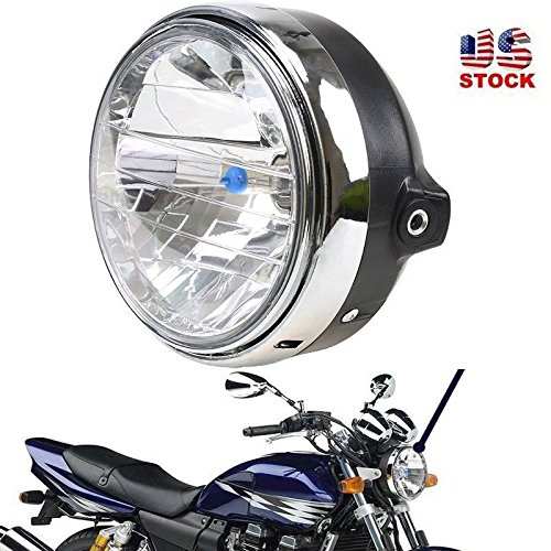 - GZYF Chrome Universal Halogen Headlight fits Honda CB400 CB500 CB1300 Chopper Custom