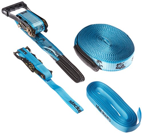 b4 Adventures Slackers Wave Walker Kit Outdoor Climbing Accessory, Blue, 50' (Walker Wave)